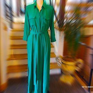 Dresses & Skirts - L'Agence Silk Maxi Cameron Shirtdress Sz XS